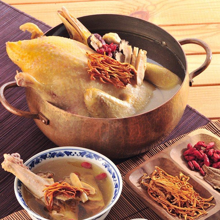 黃金蟲草鴨煲湯