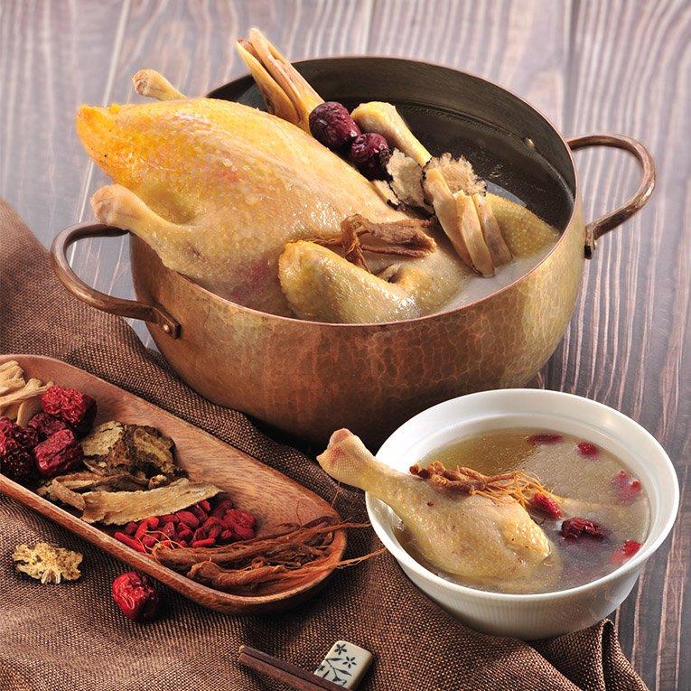 養氣人蔘鴨煲湯